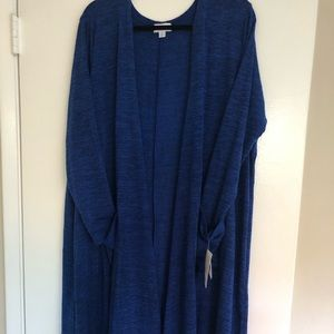 NWT LulaRoe Sarah XL Blue Sweater Duster